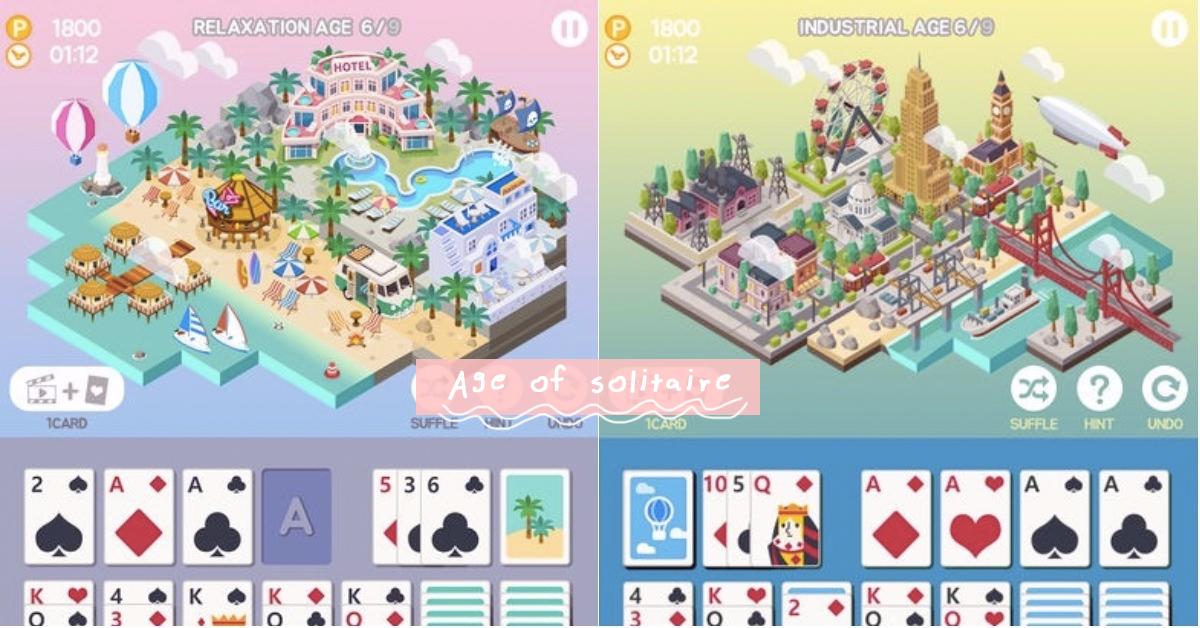 用「接龙」盖一座城市吧!边打牌边盖房子的杀时间手游《Age of solitaire》