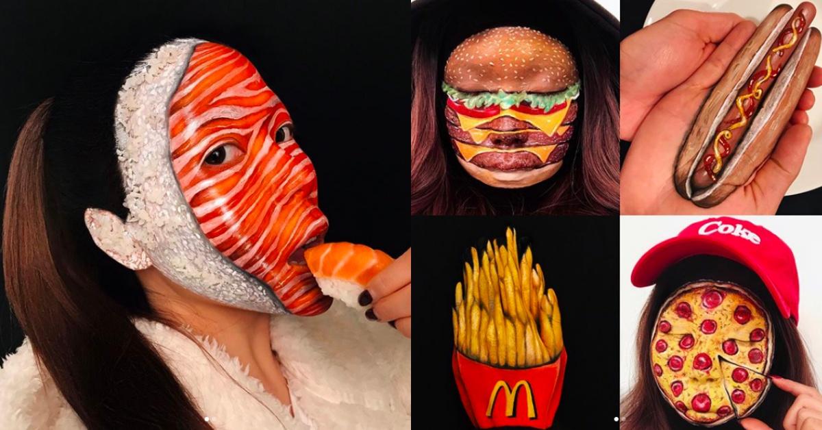 整个脸画成生鱼片、萌树懒太狂!特殊彩妆师Mimi Choi 妆容太逼真我会怕