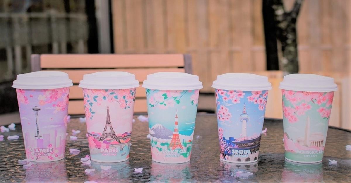 限量「草莓欧蕾」卖完就没惹!CITY CAFE城市樱花杯抢攻少女心