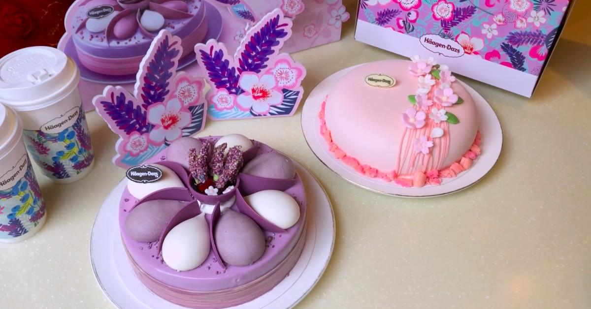 Häagen-Dazs春季限定花主题蛋糕,像妈妈的爱一样时刻绽放!
