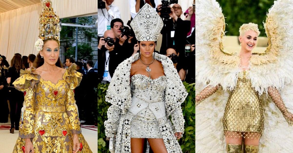 Katy Perry翅膀大到只能坐敞蓬车!「2018 Met Gala」有天使、圣母还有四面佛?