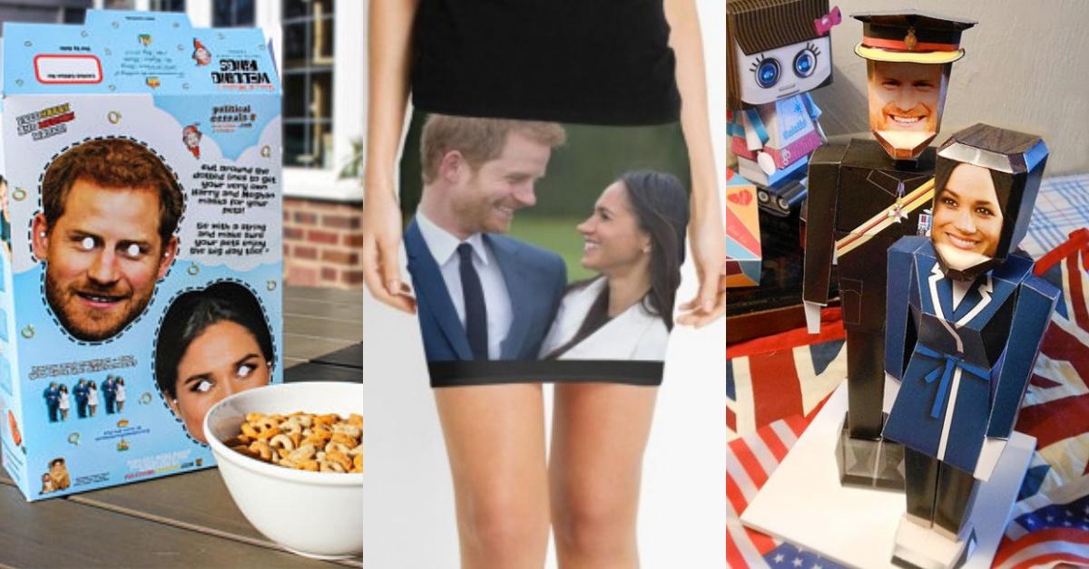 从早餐麦片到等身高立牌都有!哈利王子超狂婚礼週边,肖象迷你裙到底要穿去哪啦!