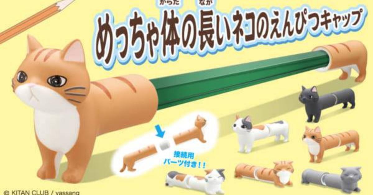 传说中的腊肠猫4ni?!长度没有极限的猫咪笔盖登场