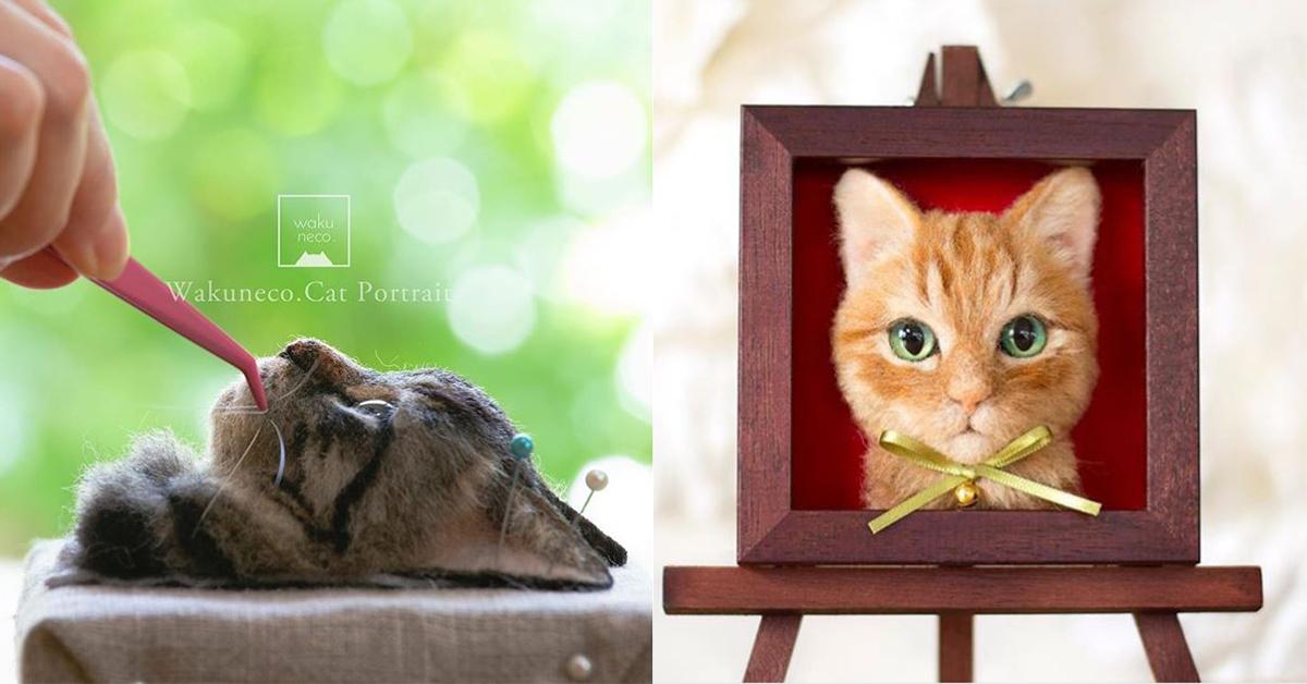 猫咪被猎头了?Q萌「猫头羊毛毡」太拟真让人直呼越看越毛