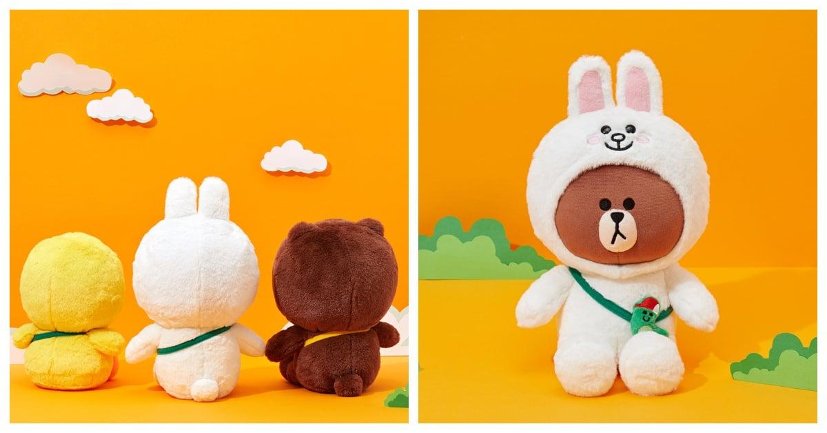 兔兔转过来竟然变成熊大!LINE FRIENDS「混搭」玩偶让粉丝错乱啦