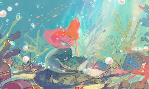 超適合當手機電腦桌面 唯美迪士尼系列水彩畫 日本 Fukamatsu