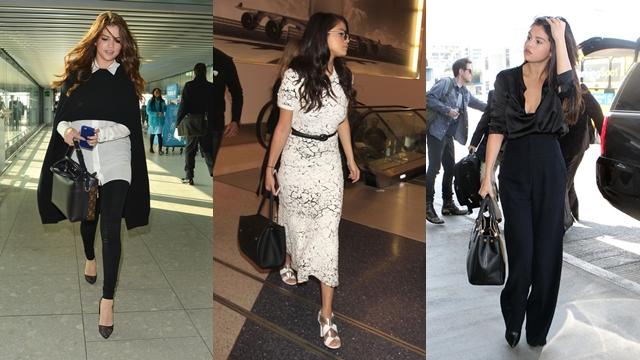 穿这样去搭飞机也不奇怪!赛琳娜「舒服out!美才重要!」的机场时尚