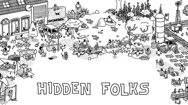 找得你不要不要的!逼死眼残人的互动寻物游戏《Hidden Folks》