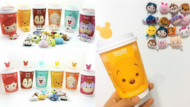 生活太闷就来杯可爱的茶放松一下!韩国GS25新推出6款Tsum Tsum风味茶