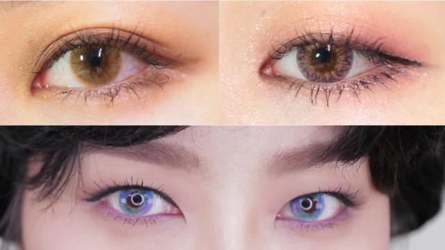 「圣经款」的温柔眼妆!教你3款韩国时下最流行的彩色隐眼「眼妆Point」