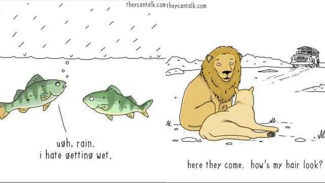 朕的心思不是奴可以揣测的!《They Can Talk》系列画出动物们的幽默O.S.