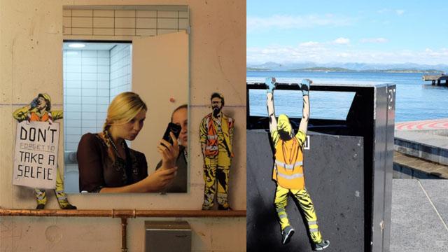街道的无名英雄就是他们!以清洁队员为主角的街头趣味涂鸦