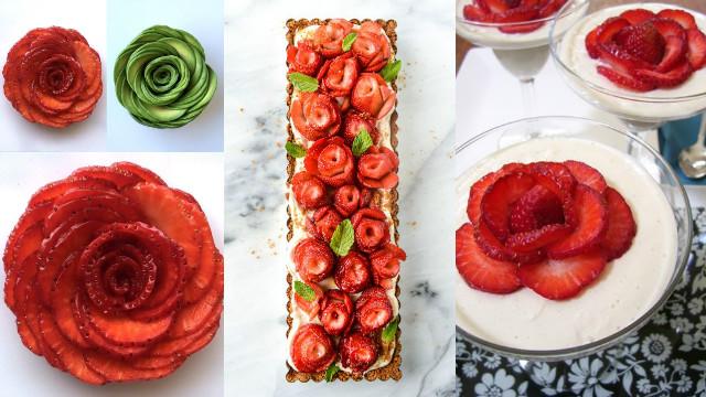 女子力爆棚必学!超简单草莓玫瑰花製作祕技全公开