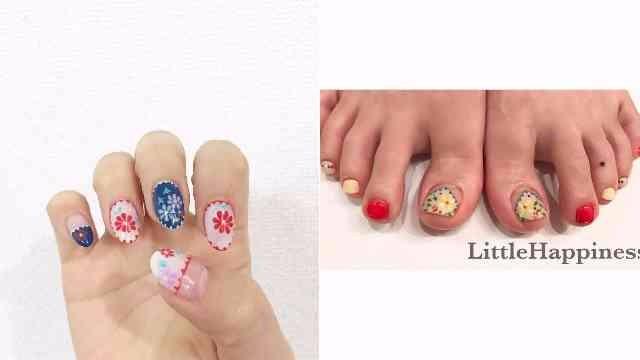 指甲当然也不能错过刺绣风潮!春意盎然的#刺繍花朵指彩特辑