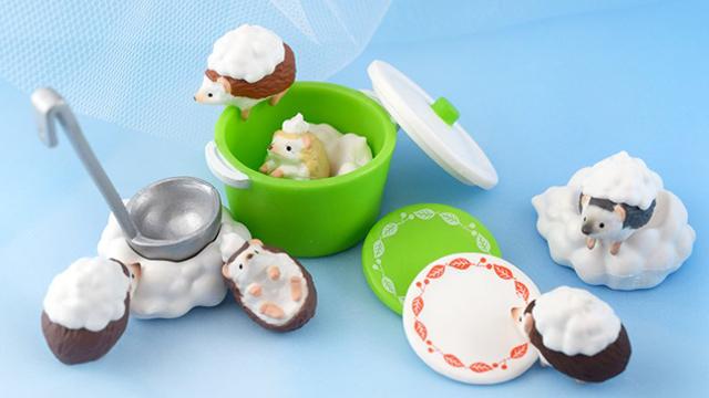 让小刺猬帮你的餐具洗澎澎!超萌小动物扭蛋大集合
