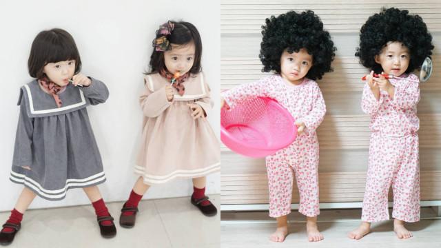 妈妈带小孩亲子节目、爸爸带小孩综艺节目?全身搞笑细胞的2岁双胞胎姊妹