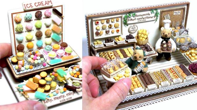 这些精緻的甜点居然比指甲还要小!迷你掌上甜点店开张啰