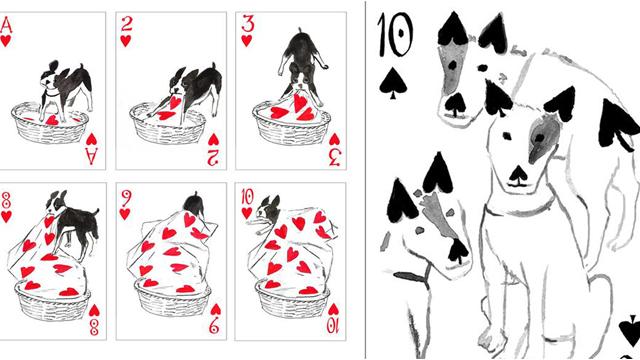 可爱到恍神忘记出牌!超萌狗狗插画扑克牌让人想收藏