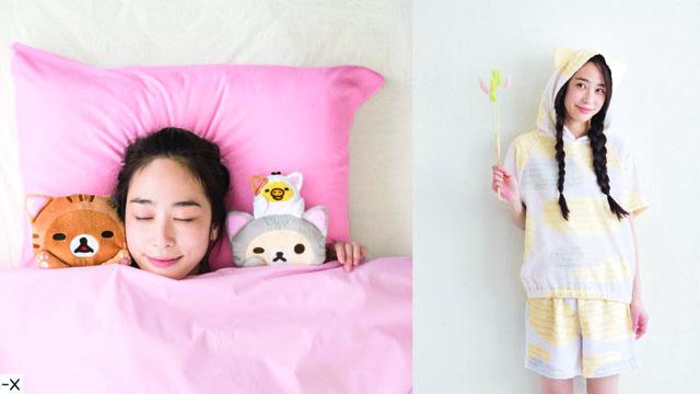萌上加萌的猫咪拉拉熊陪你睡觉!和可爱的喵星人商品渡过幸福居家时光