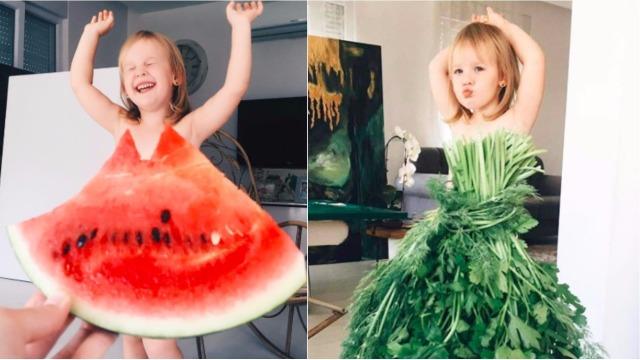 妈咪可以帮我把衣服穿好吗?「蔬果拍照法」之宝宝最潮新穿搭