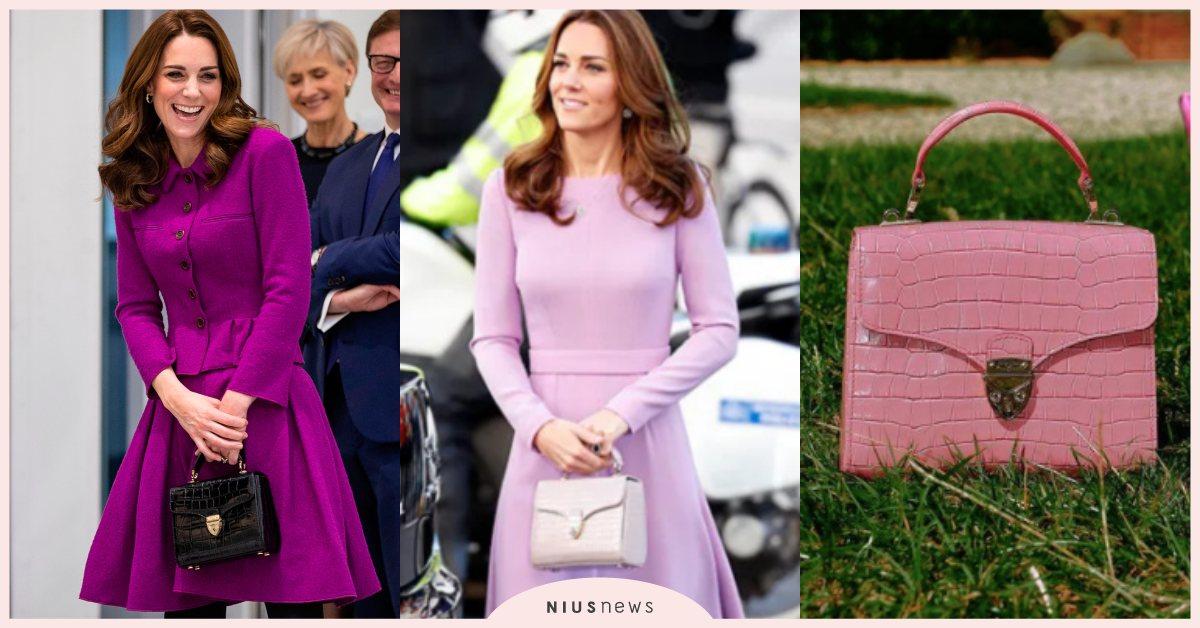 凱特王妃愛到直接包色!英國小眾牌「Aspinal」這咖「玫瑰粉」小方包直接賣翻! 凱特王妃、包包、小眾品牌、Kate Middleton、Aspinal of London