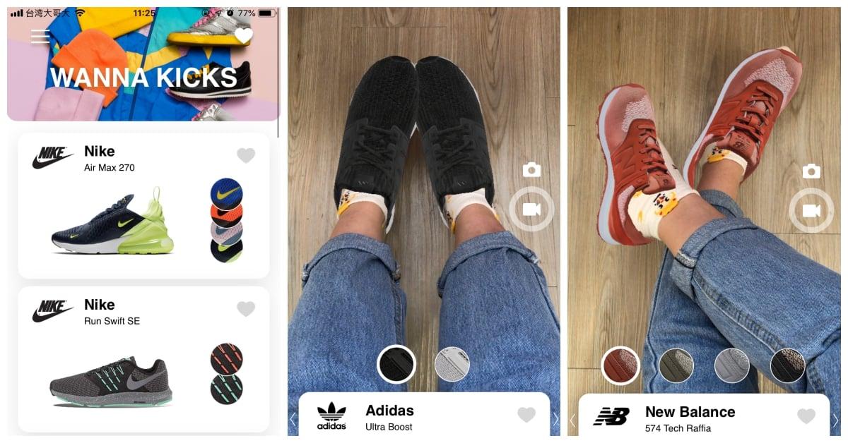 买鞋之前先用手机「虚拟」试穿!AR试鞋App《WannaKick》
