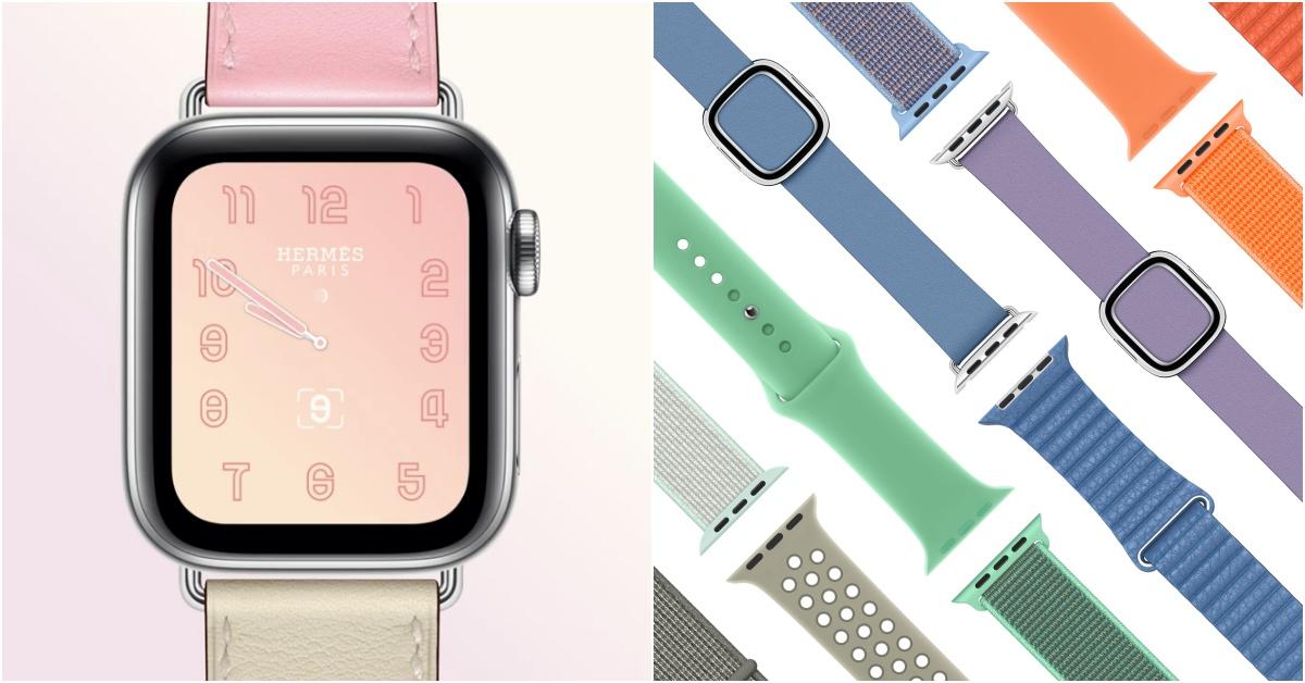 Apple Watch推春季新色錶带!Hermès玫瑰樱色和亚麻蓝色錶带粉嫩上市