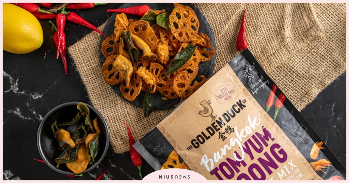 金鴨與泰國「藍象」攜手,推出新口味「泰式酸辣蝦風味乾鍋」 | 零食、新加坡零食、泰式酸辣蝦風味乾鍋| 品牌新聞| 妞新聞